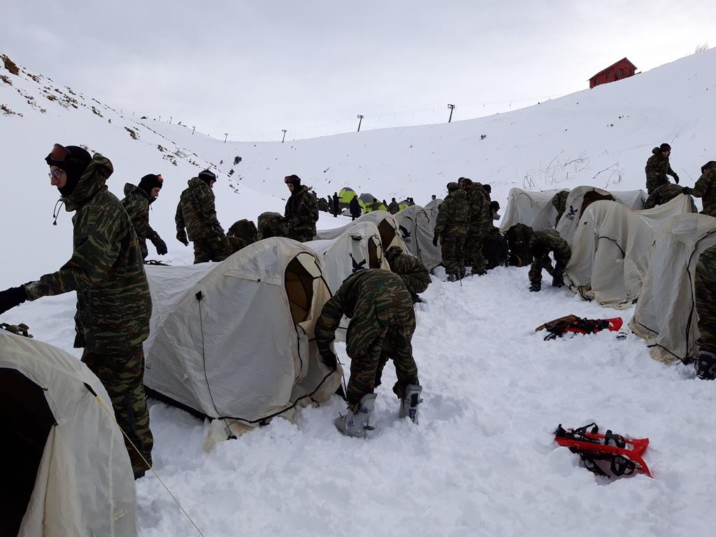 7 2 - Εντυπωσιακές εικόνες από την χειμερινή εκπαίδευση στον Όλυμπο