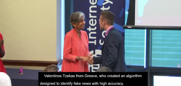"tzekas vr - Ένας Λαρισαίους στους ""25 κάτω των 25"" ετών του «Internet Society»-Πολεμά τα ""Fake News"""